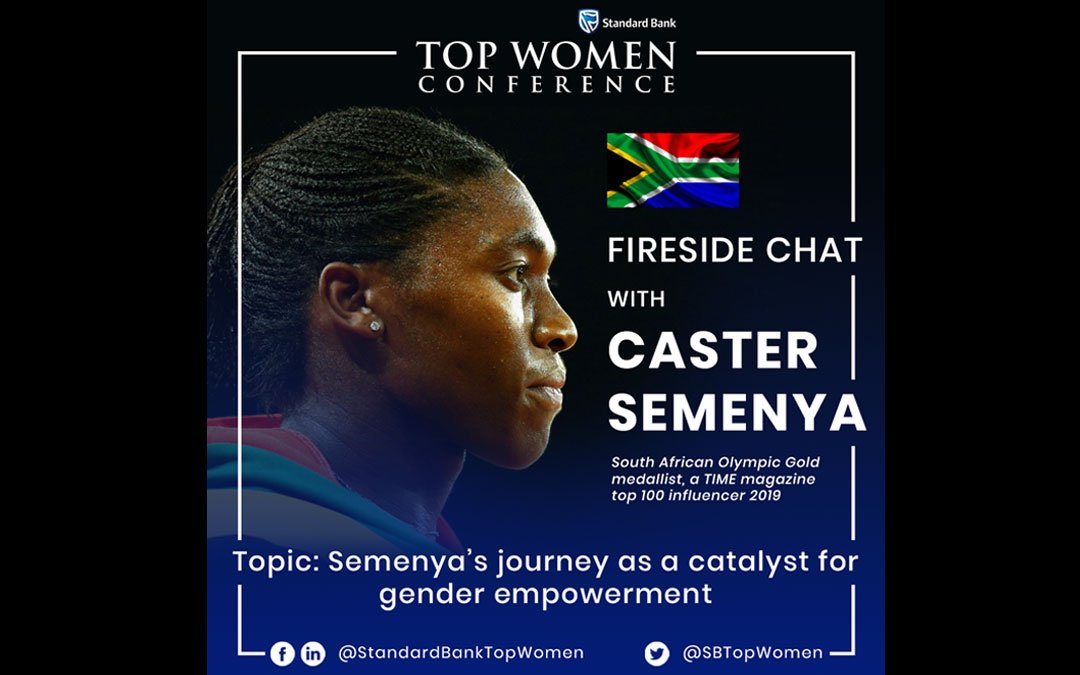 Standard Bank Top Women announces Caster Semenya as headline speaker for 2019 conference