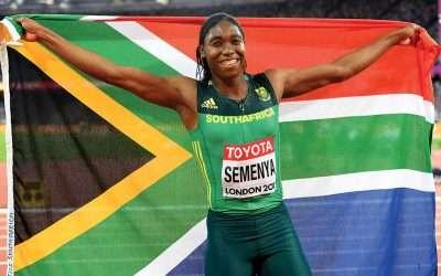 Caster Semenya the flag bearer